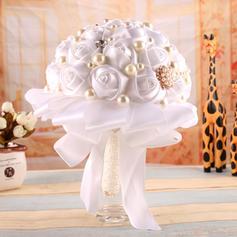 "Bridal Bouquets Round Wedding 9.84""(Approx.25cm) 7.09""(Approx.18cm) Wedding Flowers"