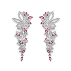 Earrings Zircon Pierced Ladies' Classic Wedding & Party Jewelry