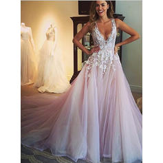 Princess Appliques Ball-Gown With Tulle Wedding Dresses