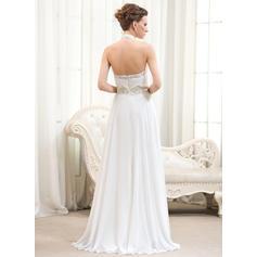 halter top wedding dresses for women
