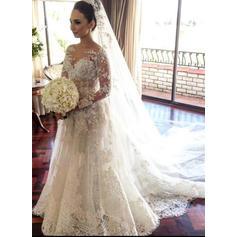 flowy fall wedding dresses