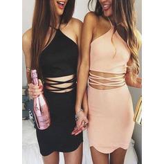 Jersey Sem magas Curto/Mini Cabresto Vestidos de boas vindas (022212273)