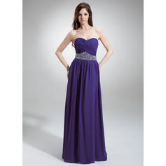A-Line/Princess Chiffon Sweetheart Sleeveless Evening Dresses (017016243)
