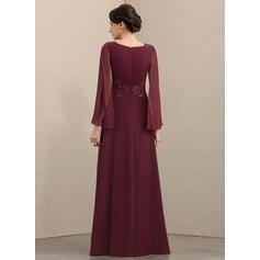 robes de soirée à manches longues plus la taille