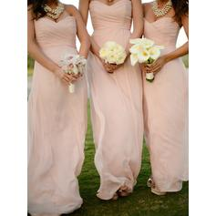 Chiffon Floor-Length Sweetheart A-Line/Princess Bridesmaid Dresses (007146659)