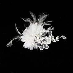"Fascinators/Combs & Barrettes Wedding/Special Occasion Feather/Lace 4.72""(Approx.12cm) 3.15""(Approx.8cm) Headpieces"