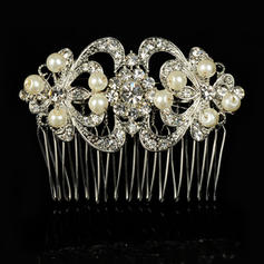 """Combs & Barrettes Wedding/Special Occasion Alloy/Imitation Pearls 3.94""""(Approx.10cm) 2.36""""(Approx.6cm) Headpieces"""