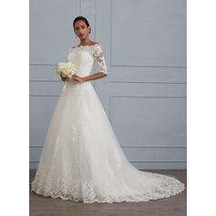 vestidos de noiva de renda modesta