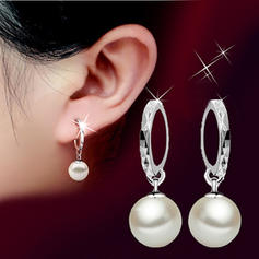 Earrings Copper Imitation Pearls Ladies' Elegant Wedding & Party Jewelry