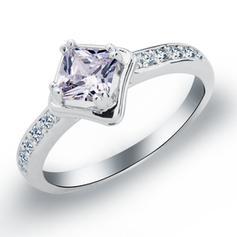 Rings Copper/Zircon/Platinum Plated Ladies' Elegant Wedding & Party Jewelry