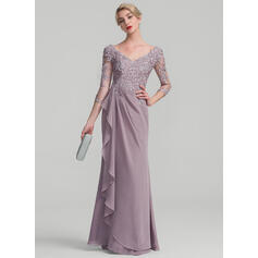 evening dresses with chiffon sleeves