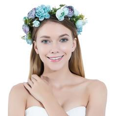 """Stirnbänder Hochzeit/besondere Anlässe/Party Seide Blumen/Satin 9.45""""(Ungefähre 24cm) 2.95""""(Ungefähre 7.5cm) Kopfschmuck"""
