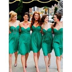 Sweetheart Sleeveless Chiffon Stunning Bridesmaid Dresses