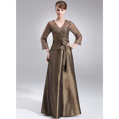 Modern V-neck A-Line/Princess Taffeta Mother of the Bride Dresses (008211205)