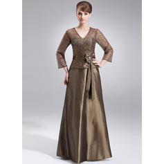 Modern V-neck A-Line/Princess Taffeta Mother of the Bride Dresses