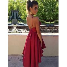 Corte A/Princesa Tirantes espagueti Escote redondo Satén Baile de promoción (016218446)