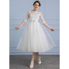 Tulle Lace A-Line/Princess With Stunning General Plus Wedding Dresses