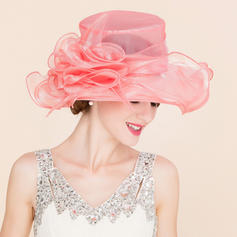 Organza With Silk Flower Floppy Hat Classic 53-58 Hats