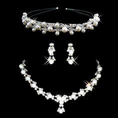 Jewelry Sets Alloy/Pearl Rhinestone Lobster Clasp Pierced Wedding & Party Jewelry