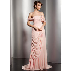 off the shoulder evening dresses for women formal