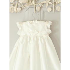 A-Line/Princess Scoop Neck Floor-length Satin Christening Gowns (2001216817)