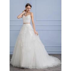 vestidos de novia de manga larga y tallas grandes
