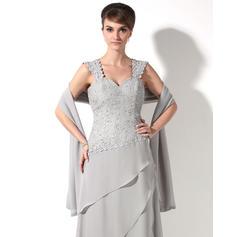 Deslumbrante Novio Corte A/Princesa Gasa Vestidos de madrina (008211229)