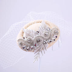 Rhinestone/Tulle Fascinators Elegant Hats