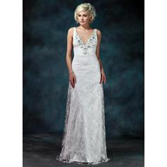 Encaje Sin mangas Vestido tubo con Glamuroso Vestidos de novia (002000229)