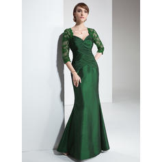 Trumpet/Mermaid Sweetheart Floor-Length Mother of the Bride Dresses With Ruffle Lace
