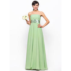 Strapless Empire Chiffon Sleeveless Bridesmaid Dresses (007198723)