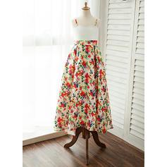 Straps A-Line/Princess Flower Girl Dresses Satin Sleeveless Floor-length (010212090)