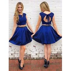 Sexy Homecoming Dresses A-Line/Princess Short/Mini Scoop Neck Sleeveless