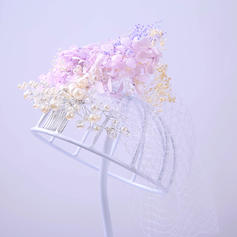 "Combs & Barrettes Wedding/Special Occasion/Party Rhinestone/Tulle 9.84""(Approx.25cm) 7.87""(Approx.20cm) Headpieces"