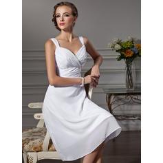 Empire Sweetheart Knee-Length Chiffon Bridesmaid Dress With Ruffle