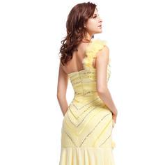 Chiffong Stilfull A-formet/Prinsesse Gulvlengde Ballkjoler (018025283)