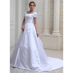 off shoulder bröllopsklänningar