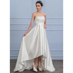 Forme Princesse - Satiné Dentelle Robes de mariée (002107829)