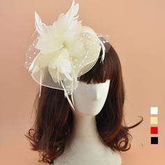 Organza mit Feder Kopfschmuck Schöne Damen Mützen
