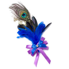 "Boutonniere/Men's Accessories Free-Form Wedding Ribbon/Feather 8.66""(Approx.22cm) Wedding Flowers"