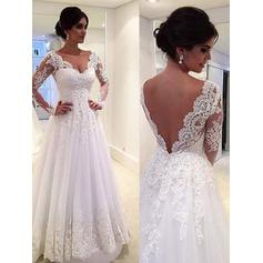 long sleeve wedding dresses no lace