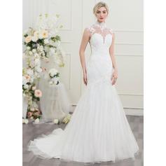Tule Trompete/Sereia Delicado Vestidos de noiva