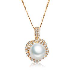 Necklaces Copper/Zircon Pearl Lobster Clasp Ladies' Wedding & Party Jewelry