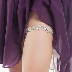 "Garters Women/Bridal Wedding/Casual Ribbons With ""A"" Level Rhinestone/Silver Plated Garter"