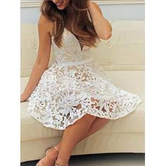 Gorgeous Lace A-Line/Princess V-neck Cocktail Dresses