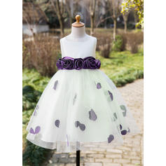 blue flower girl dresses cheap