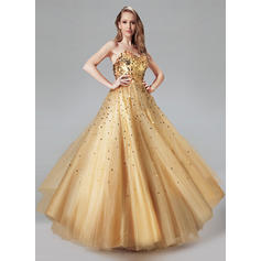 Ball-Gown Sweetheart Floor-Length Prom Dresses With Sequins (018212989)