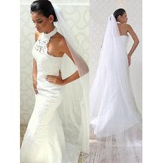 Lace Beading Trumpet/Mermaid With Taffeta Wedding Dresses (002148019)