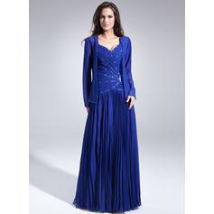 Forme Princesse Amoureux Mousseline Magnifique Robes mère de la mariée (008213110)