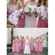 Bridesmaid Dresses Sweetheart Chiffon A-Line/Princess Sleeveless Floor-Length